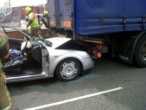 Car v Lorry in Nuneaton