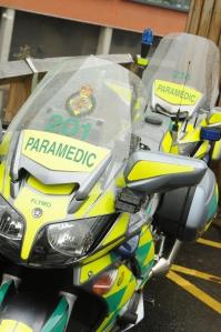 Biker paramedics at QEHB 2