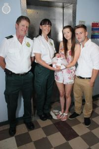 BABY BORN IN LIFT NAMED AFTER PARAMEDIC 1