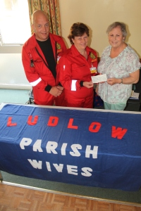 LUDLOW WIVES' DONATION TO VOLUNTEER LIFESAVERS