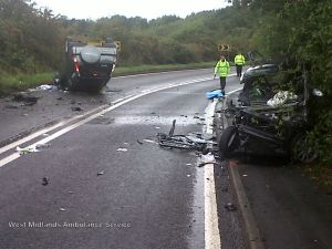 RTC in Warwickshire 17-09-13