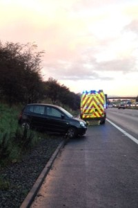 CRASH ON M6 IN STAFFORDSHIRE 2
