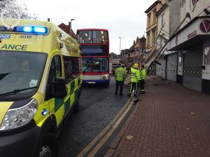 SCAFFOLD COLLAPSE IN DUDLEY 29-11-13