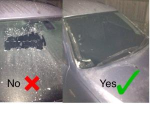 Campaigns - icy windscreen (yes or no)