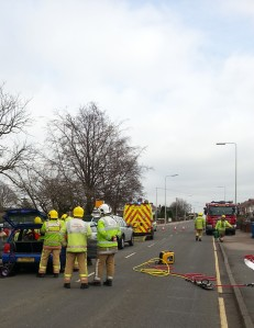 THREE CAR CRASH IN BURNTWOOD 280214