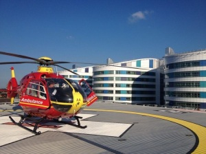 Midlands Air Ambulance at QEHB