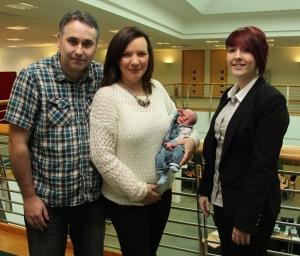 Karl, Hilary, baby and Christina