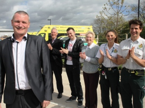 CARDIAC ARREST SURVIVOR THANKS AMBULANCE STAFF (1)