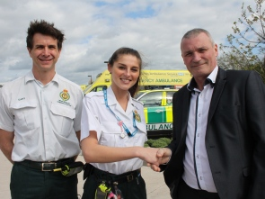 CARDIAC ARREST SURVIVOR THANKS AMBULANCE STAFF (2)