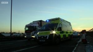 Ambulance on the M6