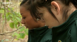 Maya and Mel at the scene of the hanging