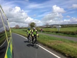 pedalling paramedics half way through epic journey