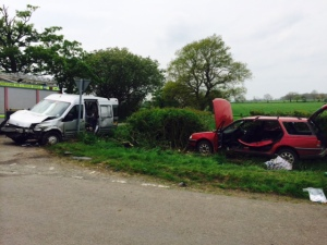 TWO INJURED IN RUGBY RTC
