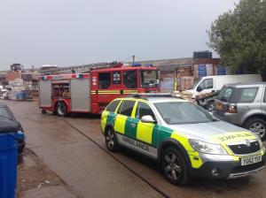 Bonfire Injury - Hayes Lane, Lye (08-07-14)