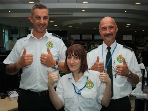 Control staff prepare for leap of faith for charity