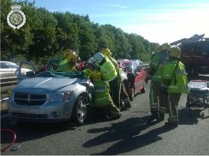 Traffic chaos on M6 100714 1