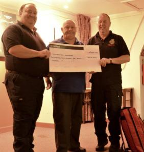 Darts League Donation to Volunteer Lifesavers 21-08-14