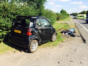 woman airlifted from a46 collision 1