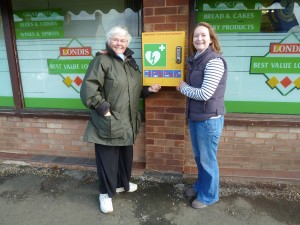 Community Spirit in Alveley Delivers a Defibrillator