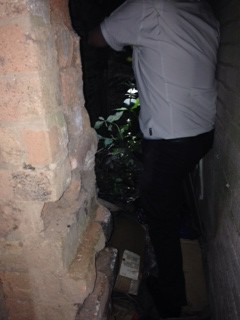 Man trapped in passageway 2