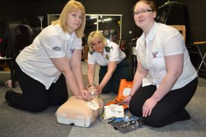 Defibrillator at British Ironworks, Oswestry