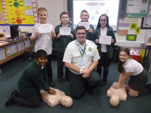 Telford pupils are taught the Heartstart way