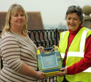 Defibrillator installed at Ludlow Conference Centre - Shropshire Star pic