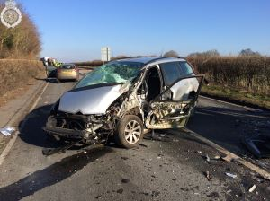 Tractor and two cars involved in collision in Warwickshire 1 09-02-15