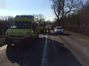 Tractor and two cars involved in collision in Warwickshire 2 09-02-15