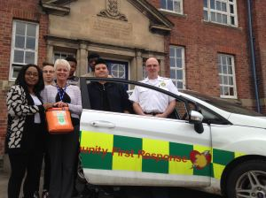 Defibrillator installed to help boarding school students in Shropshire 2