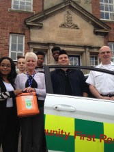 Defibrillator installed to help boarding school students in Shropshire 3