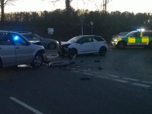 'RAPID EXTRICATION' OF DRIVER FOLLOWING COLLISION