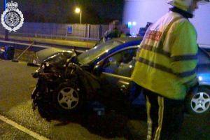 M5 slip road crash 1 17-03-15