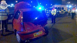 M5 slip road crash 2 17-03-15