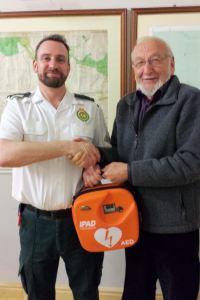 Mamble phone box to house lifesaving equipment