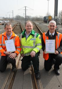 Train maintenance trio commended for saving a life 3