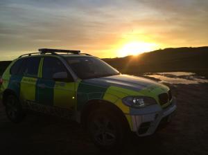 ASO Vehicle at Sunset