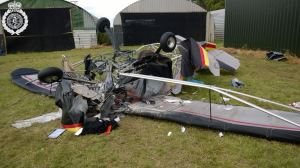 Light aircraft crash landing at Shifnal Airfield 1