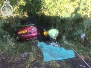 Lorry and car crash on A49 02-07-15