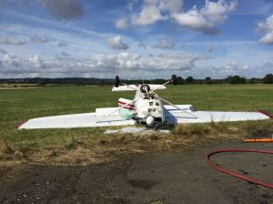 Light Aircraft crash at Wolverhampton Halfpenny Green Airport 16-08-15