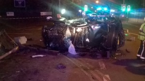 Man taken to major trauma centre after car overturns in Oldbury 1 17-08-15