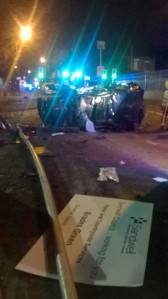 Man taken to major trauma centre after car overturns in Oldbury 2 17-08-15