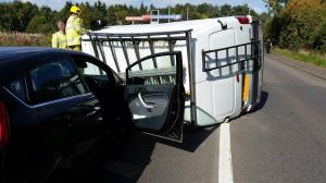 4 vehicles, 10 patients, no injuries