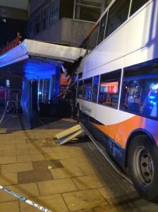 Bus crash in Coventry