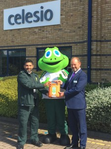 Lloyd the paramedic turtle gives life saving gift to his sponsor company