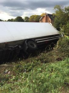 M6 lorry overturns Oct 14th 2015