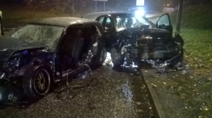 Two car crash in Telford 27-10-15