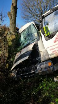 Lorry Driver trapped in Old Colwall 3