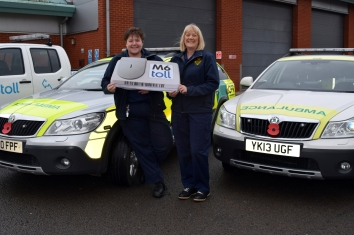 Rachel Baron and Andrea Richards of Burntwood and District CFR