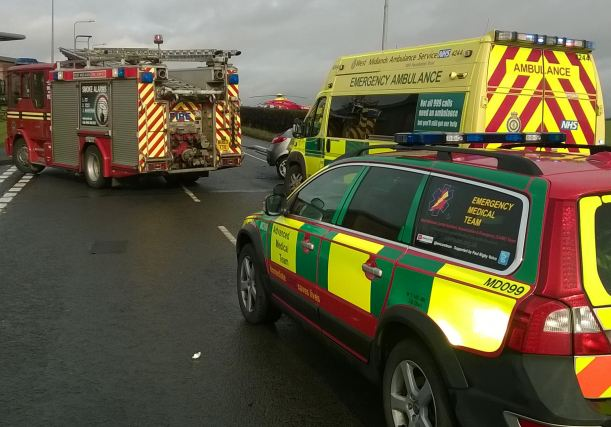 woMAN RECEIVES CARE FROM SPECIALIST TRAUMA TEAMS IN LICHFIELD RTC